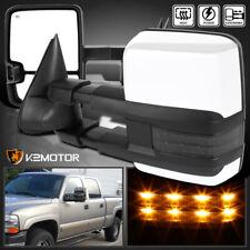 1999-2002 Silverado Sierra Facelift POWER+HEATED Tow Mirrors w/Smoke LED Signal