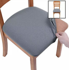 Seat Covers For Dining Room Chairs Stretch Jacquard Chair Set Of 6 Grey
