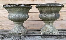 Paire de Vase Médicis Décoration de Jardin Ciment Ancien Concrete French Garden