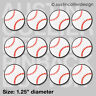 "(12) BASEBALL 1.25"" pinback buttons / badges - team gift pins USA pin back"