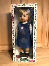 """New In Box Gotz Doll Lily Little Sisters 18"""" Tall 305/16 Mold Jointed Posable"""