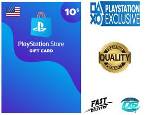 PlayStation Network $10 USD - 10 US Dollar PSN Store Key Code - PS4 PS3 PSP – US