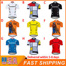 New Mens Cycling Short Sleeve Jersey Bike Tops Clothing Cool Shirts Polyester