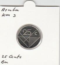 Aruba 25 cents 2001 BU - KM3
