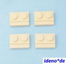 LEGO STAR WARS ARCHITECTURE 4 pcs.plaque 1 x 2 Avec Rails BEIGE TAN 32028 NEUF
