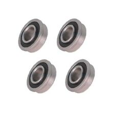 Four Precision Sealed Flanged 1 18 Od X 12 Id Bearings