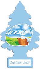 Pack of 10  * SUMMER LINEN   * Little Trees Car Freshner Air Freshener Genuine