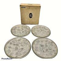 Vintage Indiana Glass Tiara Ponderosa Pine Dinner Plates Boxed Set of 4