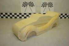 Pinewood Derby Pre-cut, #58LS, Lightning McQueen, Pumped!... Rounded Fenders!