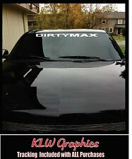"32"" Dirtymax Duramax * Vinyl DECAL Sticker StacksDiesel TRUCK 2500 Soot 4x4 3500"