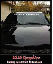 """32"""" Dirtymax Duramax * Vinyl DECAL Sticker StacksDiesel TRUCK 2500 Soot 4x4 3500"""