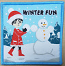 1 Winter Fun girl Christmas badge patch patches badges Guide Brownie snow fun