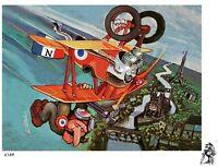DEALS WHEELS LUCKY PIERRE AIRPLANE TSHIRT 4169 biplane model plane