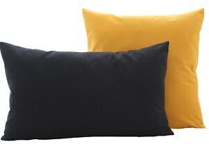 Kissenbezug Kissenhülle Dekokissen Kissen 40x40 in 15 Größen 100% Baumwolle
