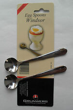 Windsor By Grunwerg Sheffield Stainless Steel Pack of 2 Egg Spoons Free Postage