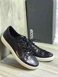 Sneakers Fashion Men's ECCO Soft 7 Premium Patent Leather Burgundy 430424 01070