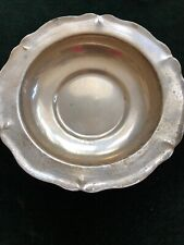 Vtg antique .900 coin silver bowl serving dish candy Plata handmade Chile 97.5g