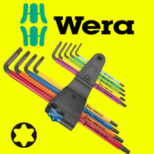 Wera 024470 Tools TORX® HF Multicolour BL Long L-Key Set TX 8-40 9pc 967 TX SXL