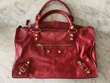BALENCIAGA Giant Work Bag Red
