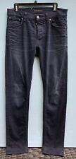 Nudie Jeans Tilted Tor 31 x 33 Men's Skinny Leg Dark Wash Organic Cotton Denim