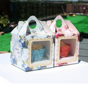 Boxes For Cupcake Muffin Wedding Baby Shower Christening Birthday, UK seller