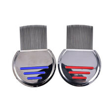 2Colors Lice Nit Comb Get Down Stainless Steel Metal Head and Teeth Fine Removal
