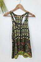 Sundance Womens Size XS Silk Tank Top Blouse Boho Paisley Print #W