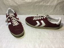 Mossimo ELMER Supply Dark Red Burgandy Leather Men's Sneakers Athletic Sz 12 GUC