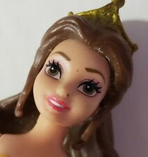 POLLY POCKET DOLL DISNEY MAGICLIP MAGIC CLIP BEAUTY & THE BEAST BELLE NUDE CROWN