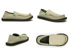 SANUK HEMP NATURAL HEMP UPPER SIDEWALK SURFER SHOES MEN'S SIZE 13 US