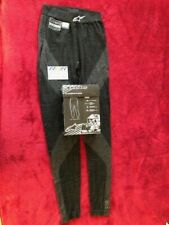 NEW ALPINESTARS BLACK NOMEX BOTTOMS LONG JOHNS Size Med/Lge NOMEX FiA 8856-2000