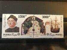 Poland 1992 Europa CEPT Columb. Columbus. Ships. Sailing. Sc 3034-5 Mi3377/78