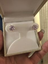 Pink Kunzite Earrings 2 Carat