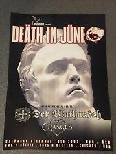 Death In June Poster 2003 Der Blutharsch Changes Blood Axis Arno Breker