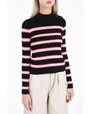 "NWT ISABEL MARANT ""Devona"" Stripe Sweater CURRENT SEASON SZ 40 Black Pink Cream"