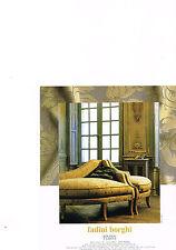 PUBLICITE advertising  2000   FADINI BORGHI  BOUSSAC  meubles tissus
