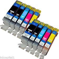 10 Canon Compatible CHIPPED Ink Cartridges For MP630