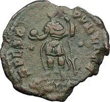 Julian II as Caesar in military dress w globe & spear 355AD Roman Coin i32774