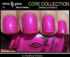 New CHINA GLAZE Nail Polish Range Varnish Art Colours Full Range Pink Red Purple