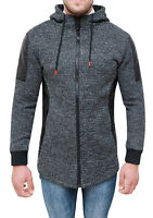 CARDIGAN MEN'S JACKET TWEED BLACK CASUAL WINTER JACKET HOODIE