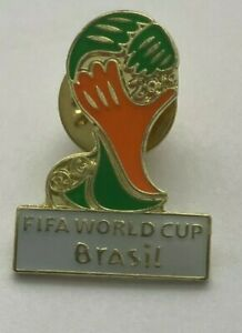 WORLD CUP 2014 LOGO PIN BADGE BRAZIL FOOTBALL SOCCER