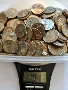 USA UNITED STATES coins 1kg DAMAGED quarters 25c minimum of $40