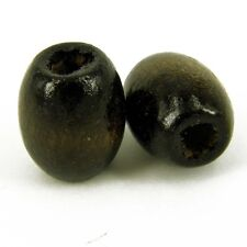 Brown Oval Wooden Craft Beads Pack of 50  15 x 13 mm Jewellery making W41