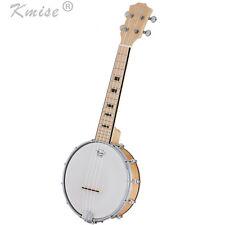 Kmise Banjo Ukulele 4 String Uke Ukelele Concert 23 Inch Size Maple Wood