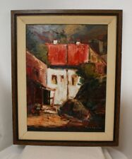 "Helen de Silaghi SIRAG Romanian/Canadian Oil On Board 1971 Title ""City"""