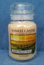 Yankee Candle Large Jar 22 oz Napa Valley Sun Amber Vanilla Blossom  NWT