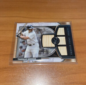 2021 Topps Museum Collection Thurman Munson Game Used Quad Bat Relic /25 NYY