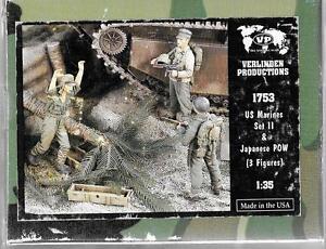 Verlinden WWII US Marines (2), Capturés Japonais Pow, Résine Figurines 1/35