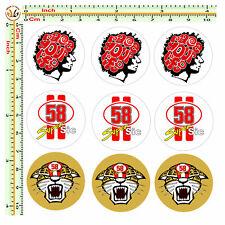 Adesivi targa super sic race your life auto moto sticker license plate 9 pz.
