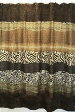 Animal Instincts Collection Shower Curtain with Liner 70x72 Inch Multiple Colors